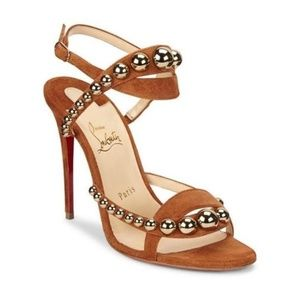 Christian Louboutin Brown Camel New Galeria 100
